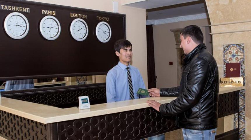 Réception Hôtel Bek Samarkand