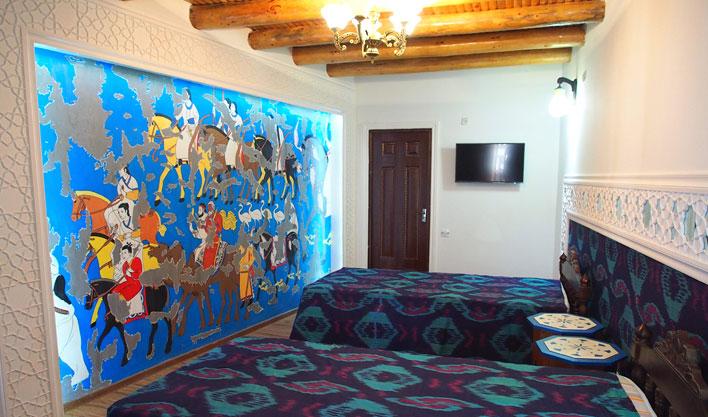 Chambre twin Hôtel Bibi Honim Boukhara 3