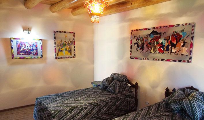 Chambre twin Hôtel Bibi Honim Boukhara 5