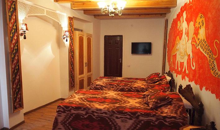 Chambre twin Hôtel Bibi Honim Boukhara 6