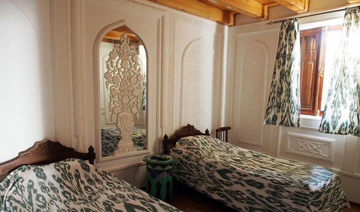 Chambre twin Hôtel Bibi Honim Boukhara 7
