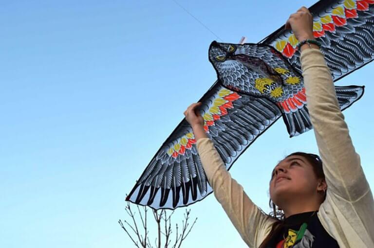 Le cerf-volant de l`Ouzbékistan